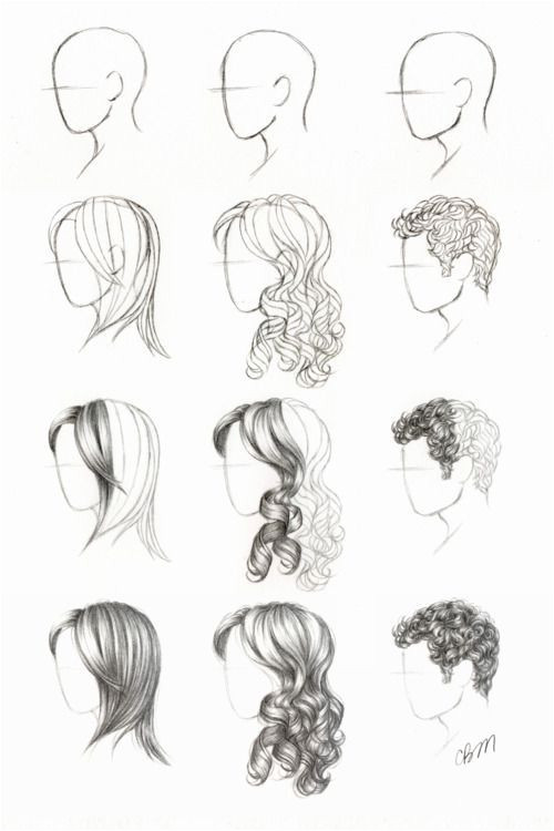 hair tutorialsed help drawing faces at a side view