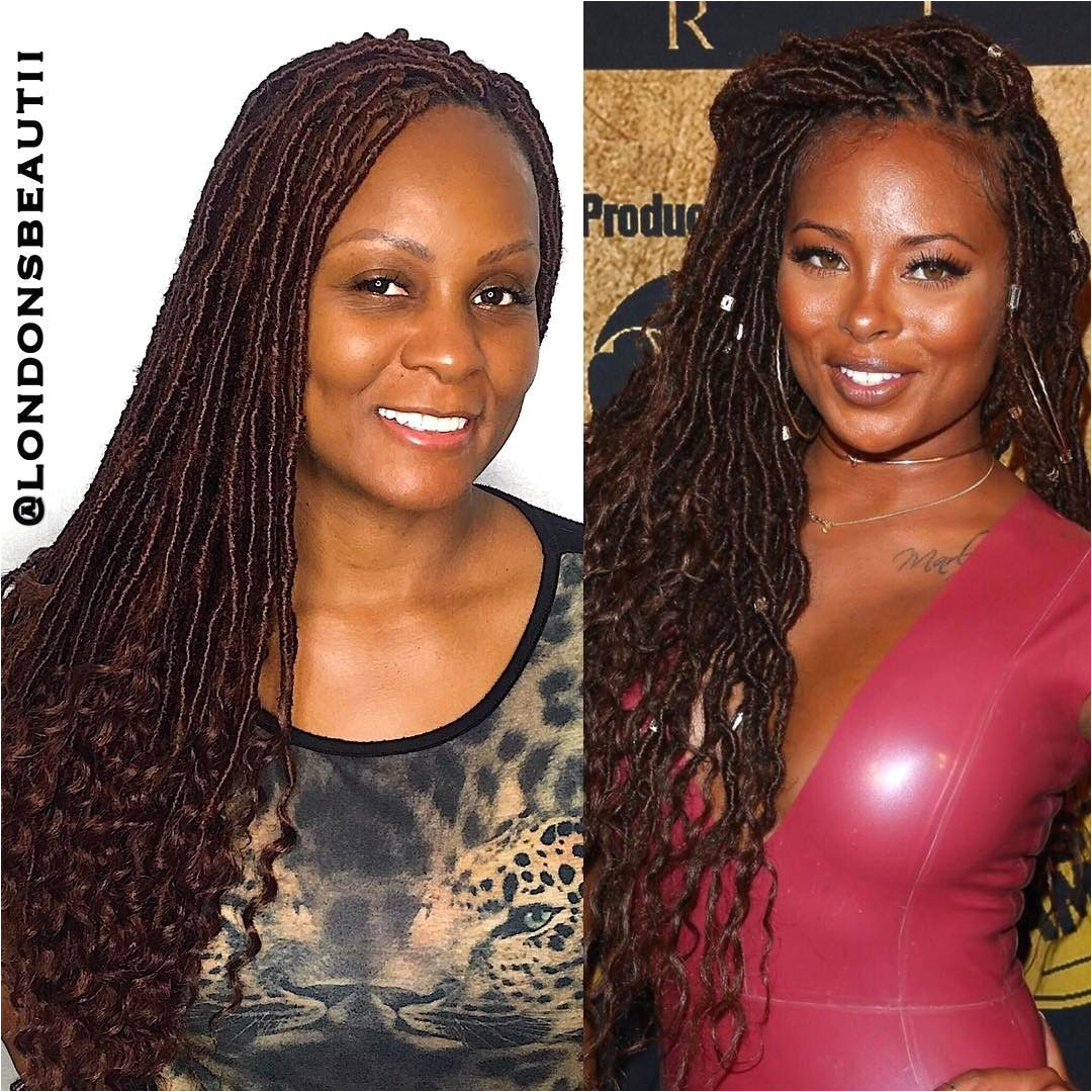 Eva Marcille inspired Goddess Faux Locs done by London s Beautii in Bowie Maryland v londonsbeautii
