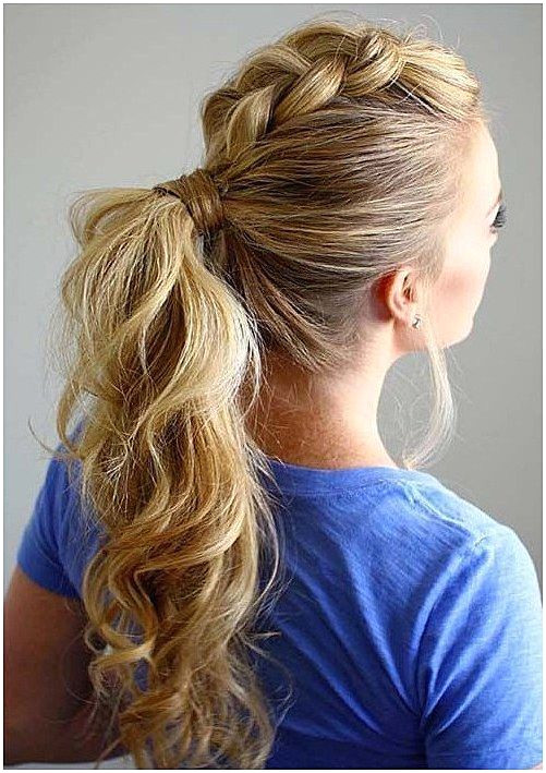 100 Ridiculously Awesome Braided Hairstyles Dutch Braided Mohawk Ponytail QuickBraid QuickBraidedHairstyle click for info