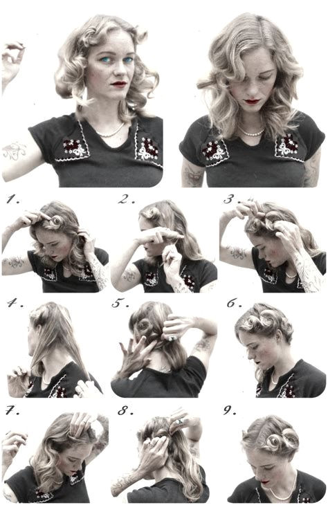 easy 40s hairstyles easy 1940s hairstyles for long 40 s set