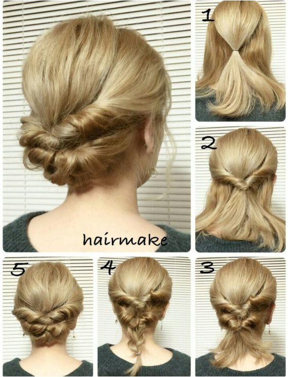 Easy and Cute Hairstyles Tutorials Easy French Twist Wedding Hair Tutorial
