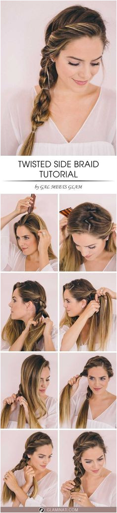 Twisted Side Braid for Various Occasions Side Braid TutorialEasy