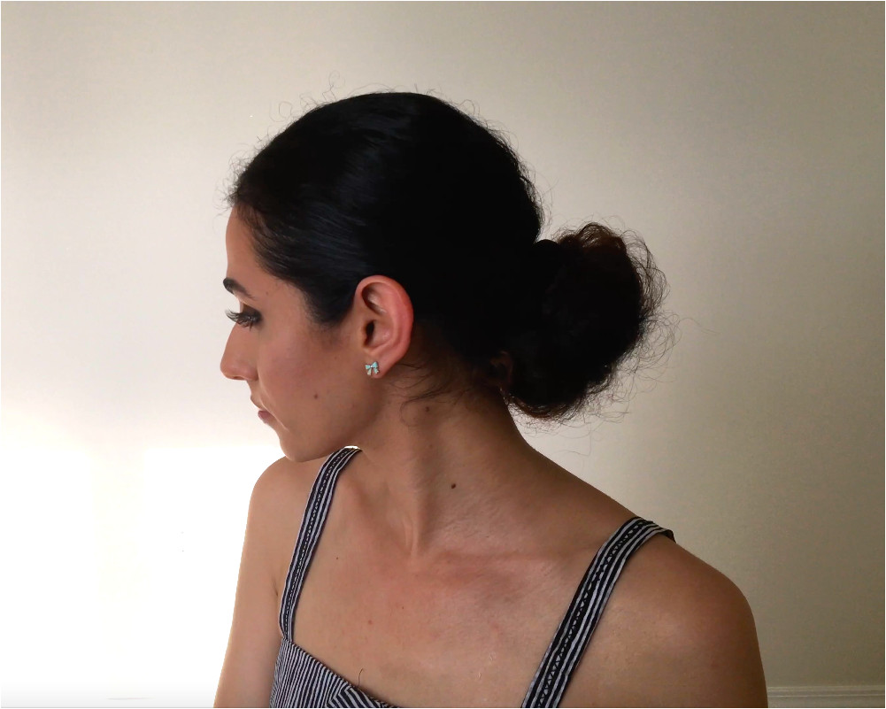 Simple and sleek bun for naturalhair I usually do this when I m running late for work and am on day 4 of not washing my hair Super easy and great hair