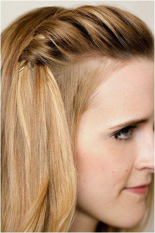 Go minimalist with an easy waterfall braid a single pin