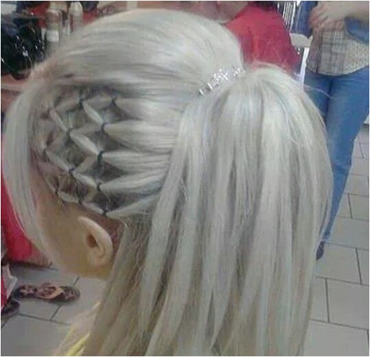 Wpuld use clear rubber bands instead or colorful ones for little girls Cute Cheer Hairstyles
