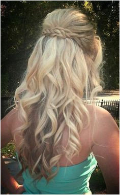 Long Curly Hairstyles 2014 Waterfall braid with curls for prom