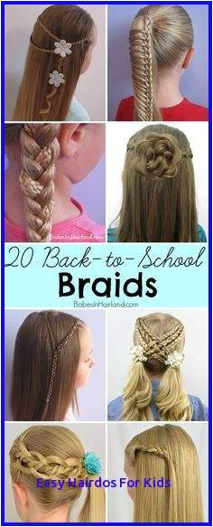 Easy Hairstyles For Girls At Home Elegant Hairstyle For School Girls Media Cache Ak0 Pinimg 736x