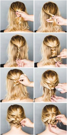 Messy Updo Easy Formal Hairstyles For Short Hair