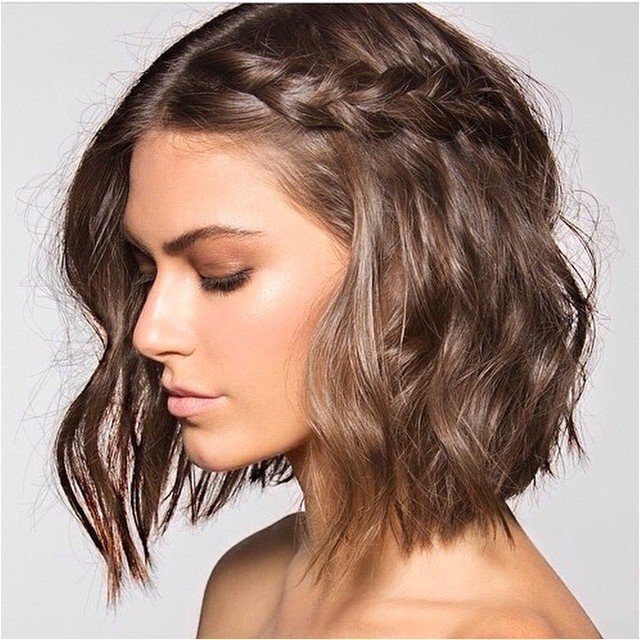 medium hair add braid
