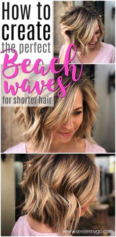 Easy Beach Waves for Short Hair