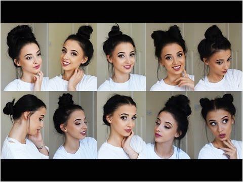 10 Easy BUN Hairstyles TUMBLR inspired
