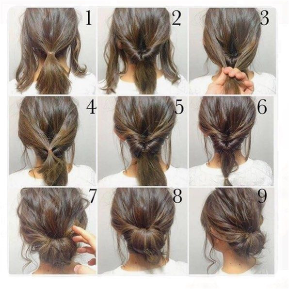 Top 100 easy hairstyles for short hair photos What a effortless easy updo for the weekend day or night♀ And it won t ruined by a chunky scarf