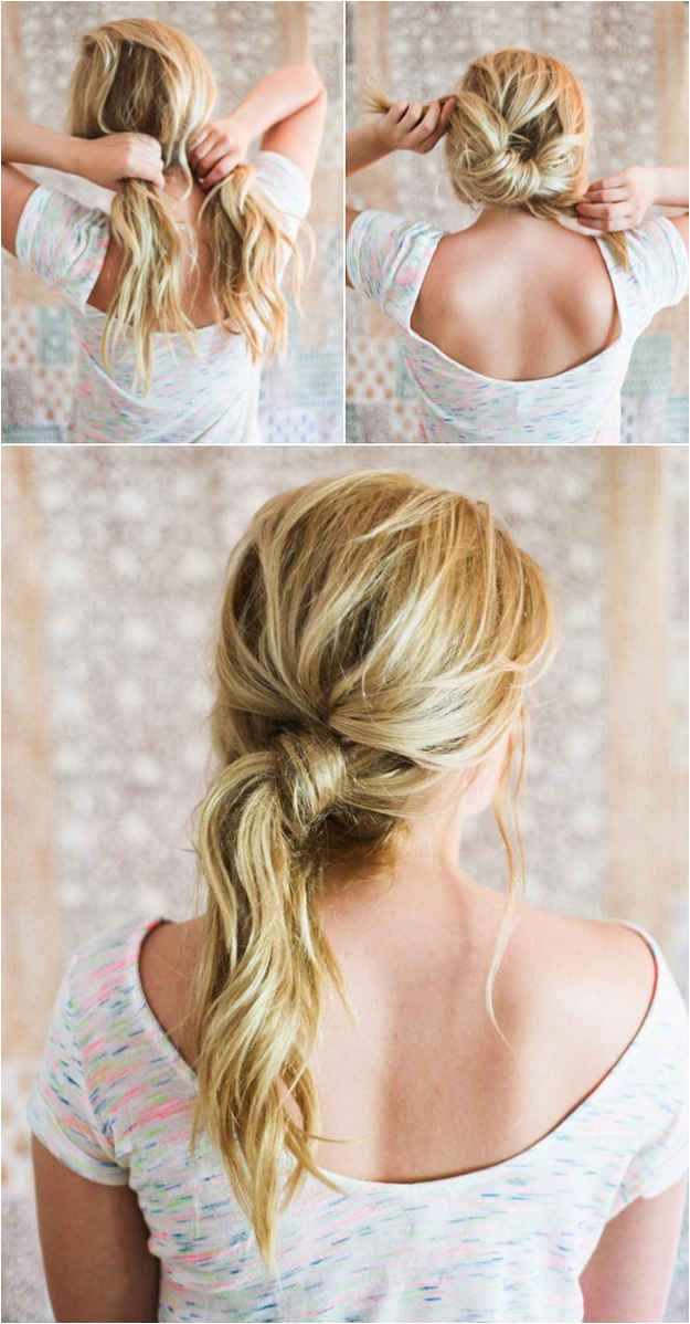 Gorgeous Hair Styles for Lazy Girls like Me… Messy Knot Pony