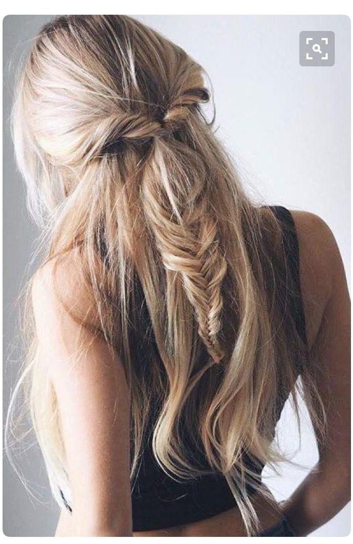 k a t i e 🥀 kathryynnicole Fishtail Hairstyles Cute Blonde Hairstyles Hair Styles Fishtail Hairstyle