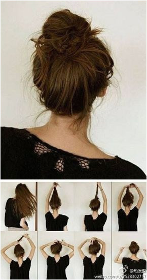 Best with wet hair Easy everyday hairstyle when your hair is wet and you dont have time to blow dry it