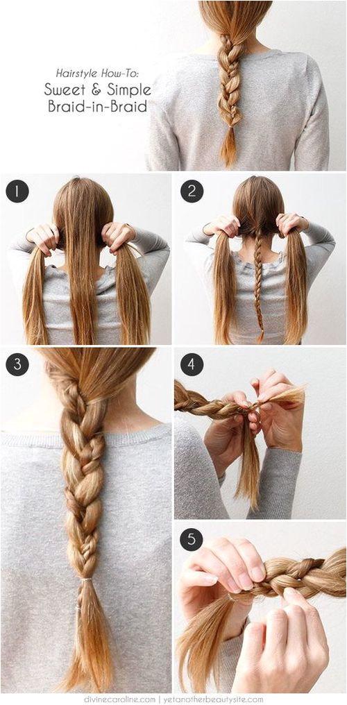Braid in a braid Makes a simple braid that little bit more