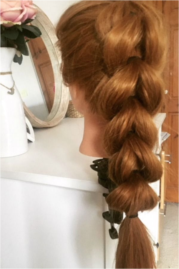 Learn how to create this easy hairstyles using the pull through braid method A simple yet elegant faux braid that you can achieve in just a couple of