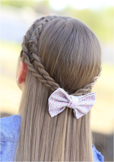 Cute 5 Minute Hairstyles Rope Braid Tieback Hairstyle