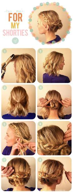Braided Bun Tutorial for Short Hair Medium Hair StylesLong
