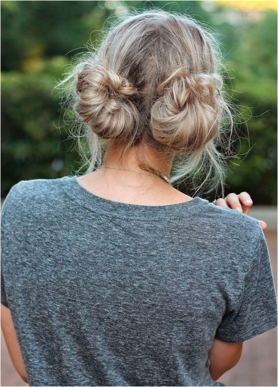 Pigtail Buns Easy Back to School Hairstyles to Let You Sleep In Later s