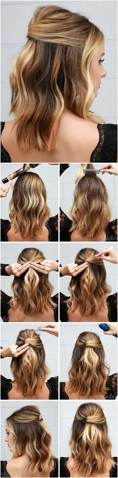 Easy Party Hairstyles Lob Hairstyles Bob Hairstyles How To Style Half Up Half Down Hairstyles Easy Hairstyles For Short Hair Cute Down Hairstyles
