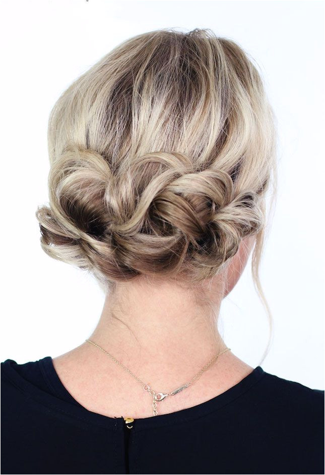 DIY a simple twist updo for your next night out