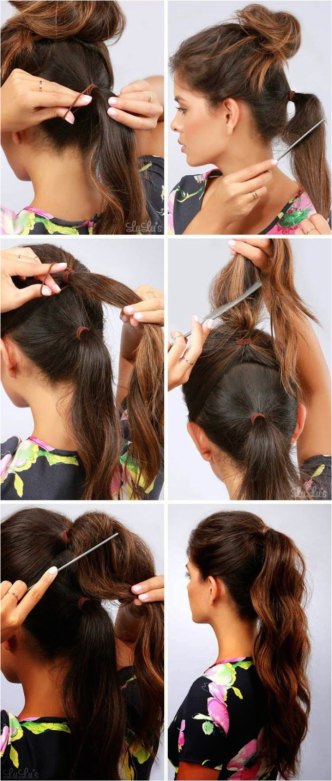 How To Longer & Thicker Ponytail Belleza Diy Bun Hairstyles Pageant Hairstyles