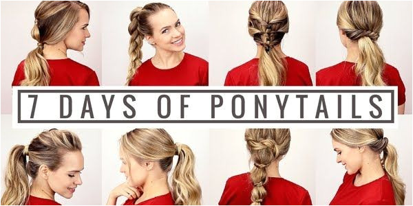 Great video tutorial showing seven quick and easy ponytails one for every day Elegant and suitable for all occasions