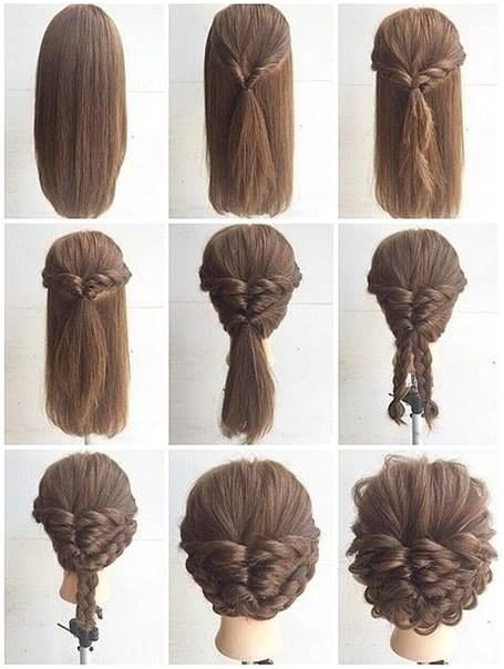 Easy Tied Up Hairstyles for Short Hair Fashionable Braid Hairstyle for Shoulder Length Hair
