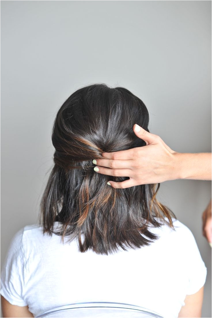 Hairstyles for short hair don t have to be boring See this twisted up do for short hair that s just three knots and easy to recreate yourself