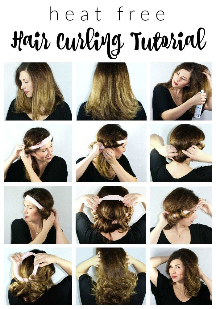 Easy to Do Hairstyles Pinterest Heat Free Hair Curling Tutorial Beauty Hair & Makeup