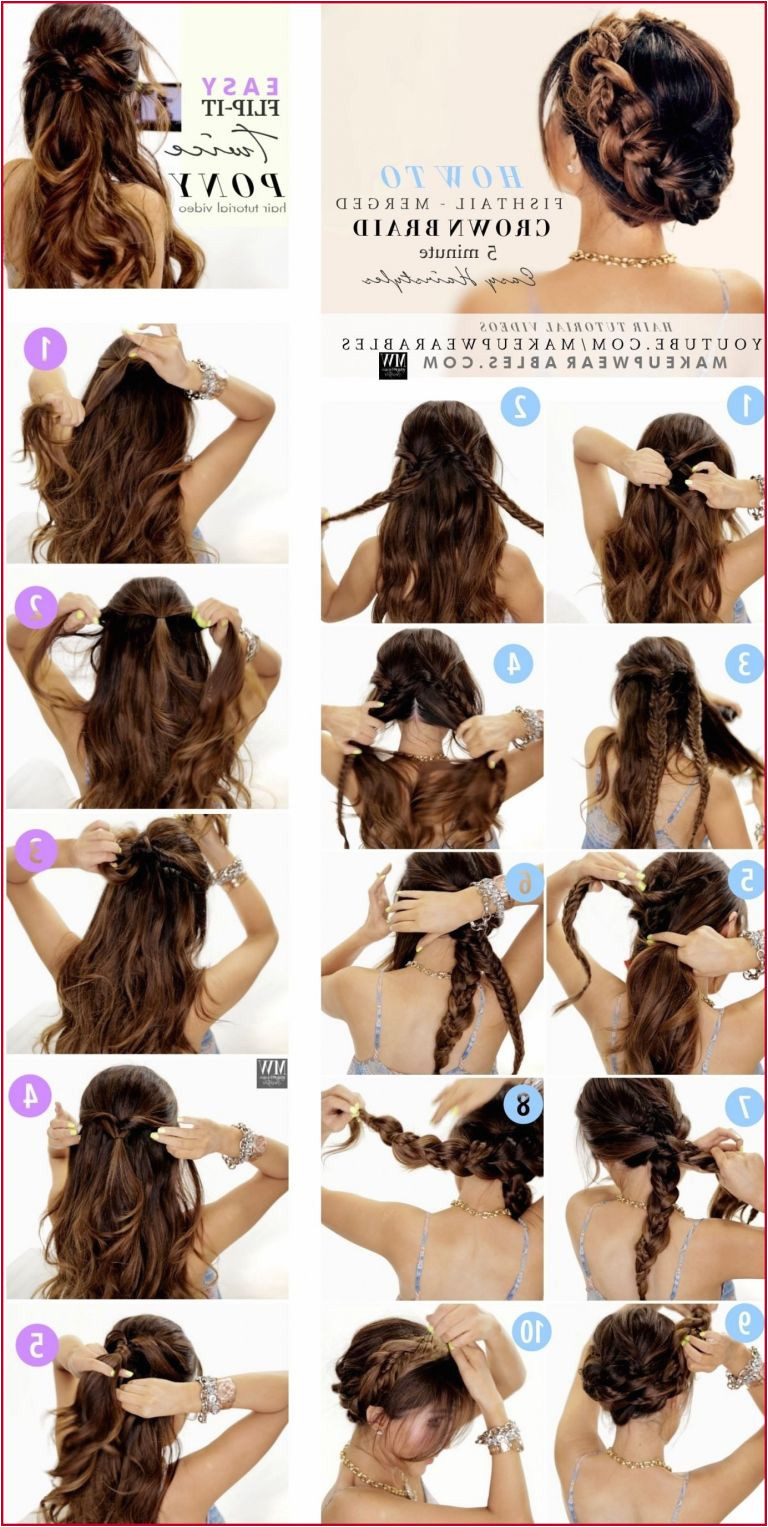 Cute Wedding Hairstyles For Long Hair Pretentious Step By Step Wedding Hairstyles Modern Easy Updo Hairstyles