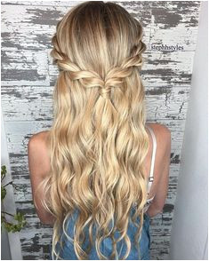 Female s Bridal hairstyles for long hair 2019 Long hair with classic Greek grip Among the fast stylish hairstyles for long hair we have the twisted halo