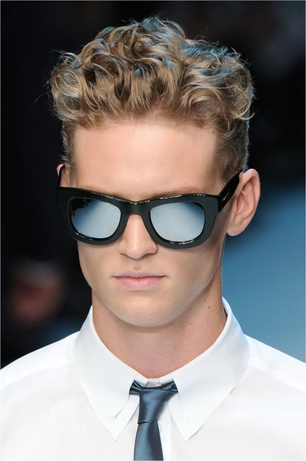 Men Hairstyles Thick Curly Hair With Glass