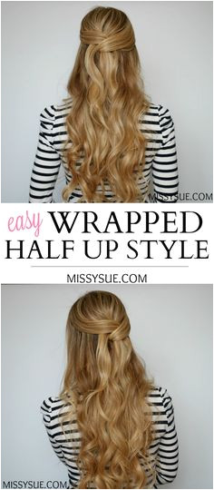 Easy Wrapped Half Up Style Missy Sue Everyday Hairstyles
