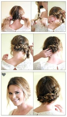 Easy Braided Up Do Hairstyle
