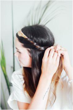 Hair Tutorial Half Up Headband Roll