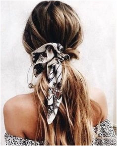 Pony hair scarf Ponytail Hairstyles Pretty Hairstyles Updos Hair Inspo