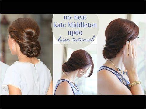No Heat Kate Middleton Updo Ma Nouvelle Mode