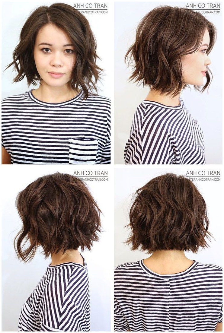 ShortHair WavyHair Hairstyles Anh Co Tran Bob click now to see more