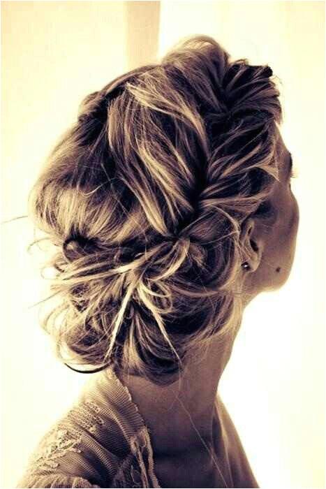 Messy updo Short Wedding HairstylesSide