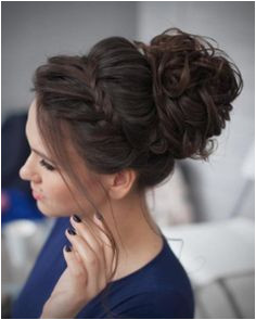 Prom hairstyles can be as wild and crazy as you want or like this style