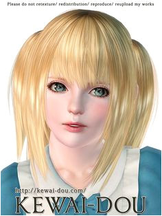 A free hair for females by Mia Kewai Dou Sims 3 Downloads CC