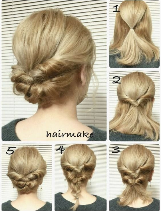Easy Updos for Medium Hair to Do Yourself Cute Easy Fast Hairstyles Best Hairstyle for Medium