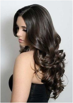 Attractive Brunette Wavy Curly Long Hair long hairstyless