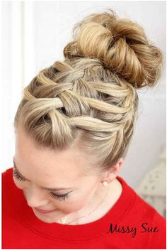 The Bohemian Side Braid Gym HairstylesFrench