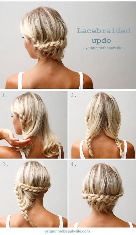 lacebraided updo if i can figure out how to those braids im all in