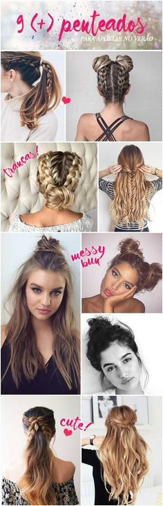 9 penteados para apostar no ver£o Cool HairstylesHairstyles TumblrCute