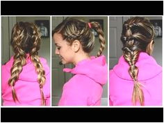3 Quick Workout Hairstyles for LONG MEDIUM HAIR TUTORIAL Active Hairstyles Workout Hairstyles