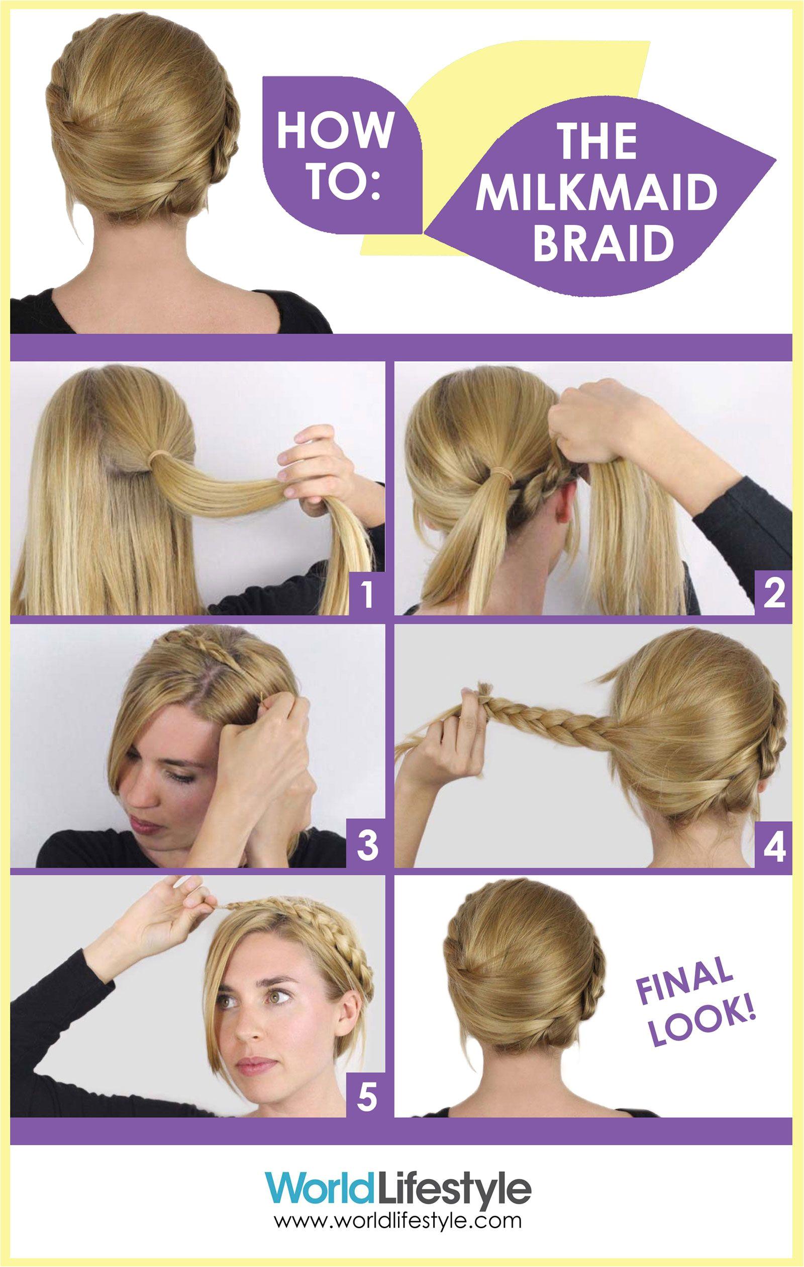 Gym Hairstyles Youtube How to Do An Easy Milkmaid Braid with Hair Guru Sasha